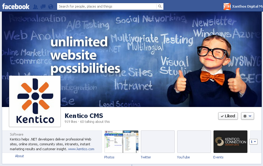 Kentico CMS - Creative Facebook Cover Photo