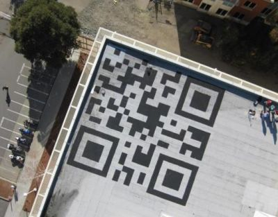Giant QR Code on Facebook Building