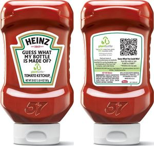QR Code Marketing on Heinz Ketchup