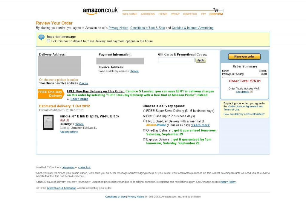 Amazon Checkout Process