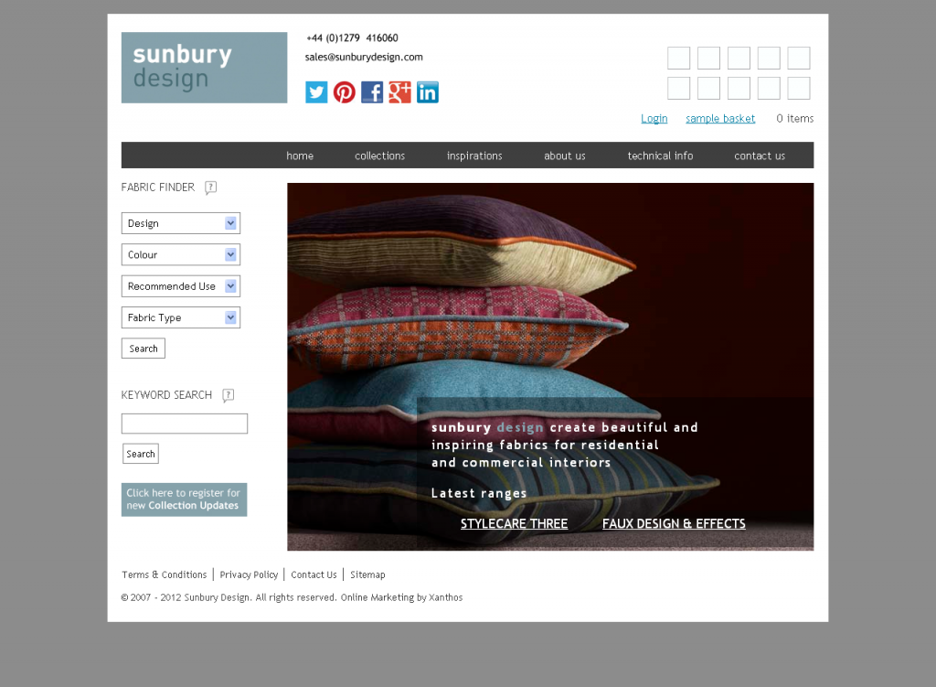 sunbury homepage screenshot