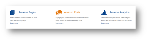 Amazon Posts, Analytics and Pages