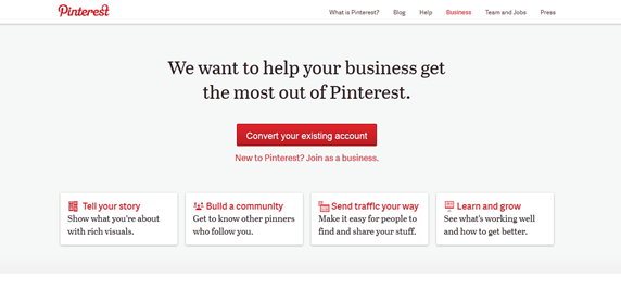 Convert to a Pinterest Business Account