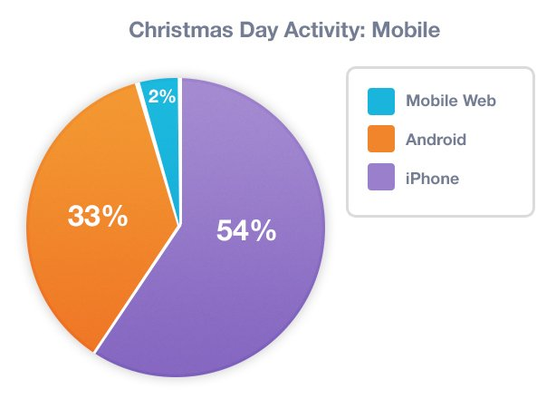 christmas day activity pie chart 2