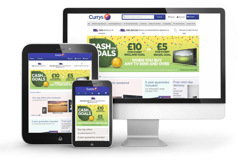 currys responsive website