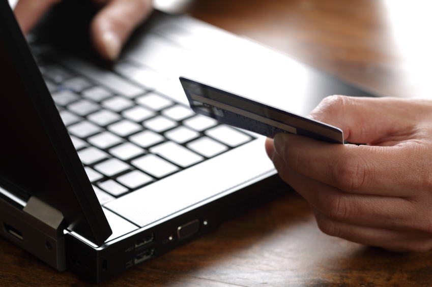 Ecommerce online shopping credit card