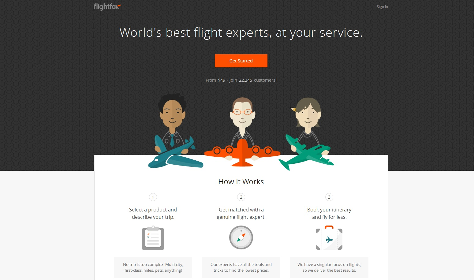 travel web design flightfox