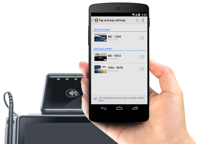 Retail Google Wallet NFC