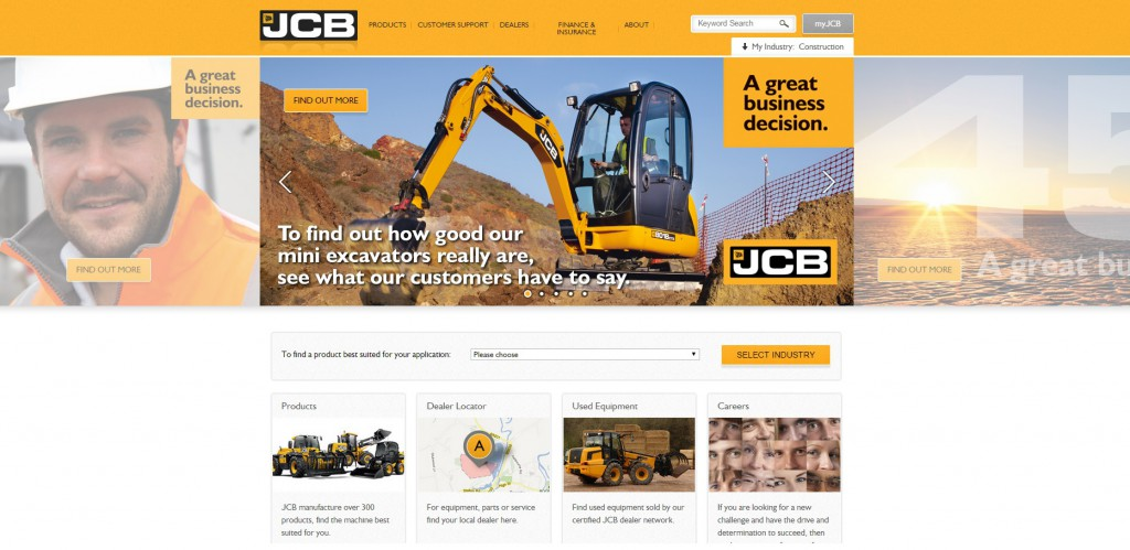 Manufacturing Website Development JCB