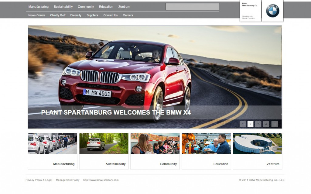 Manufacturing Website Design BMW