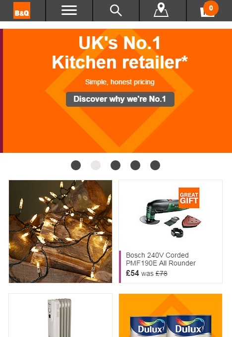 B and Q New Responsive Web Design