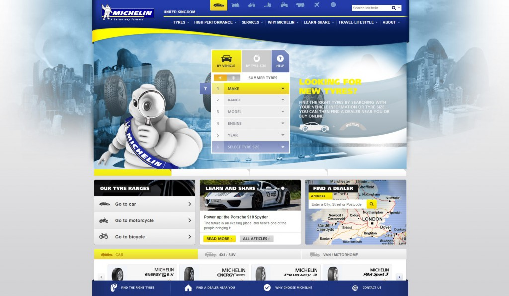 Manufacturing Website Inspiration Michelin