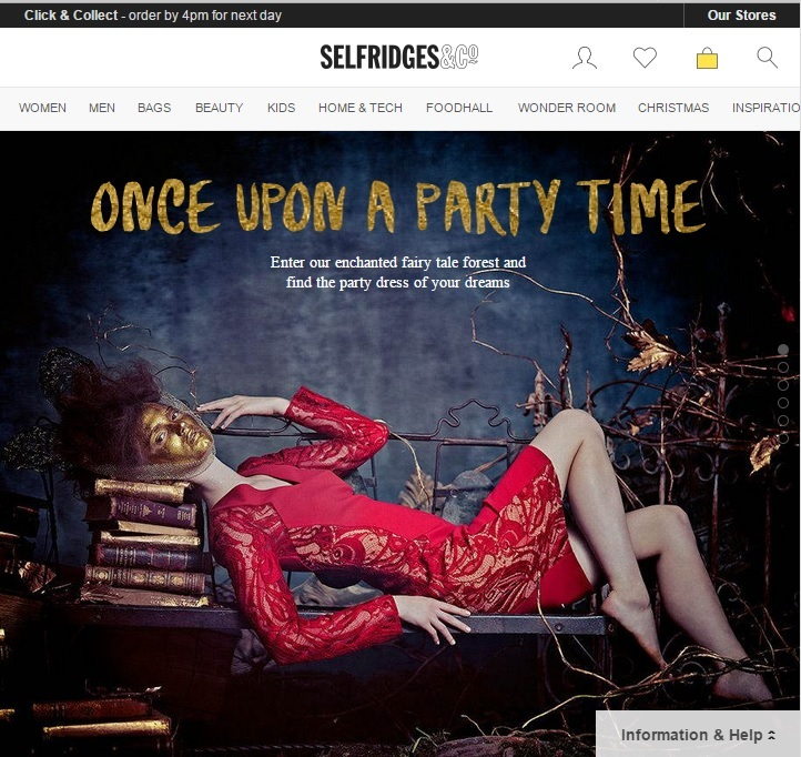 selfridges new website responsive