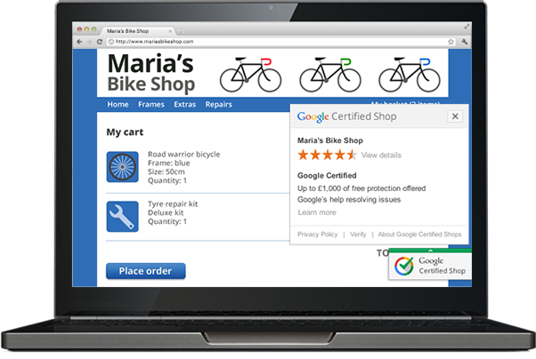 Google Certified Shop UK Ecommerce Businesses