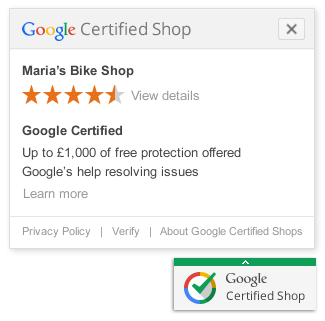 Google Certified Shop Badge example