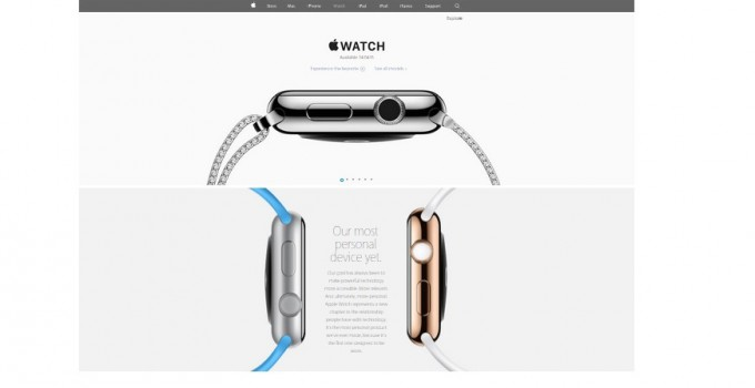 Apple Watch Sliding Website