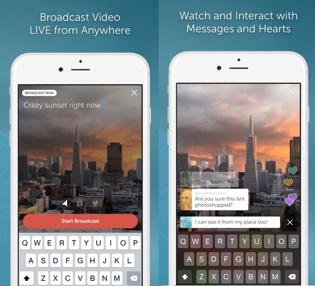 Periscope App Video Live Streaming
