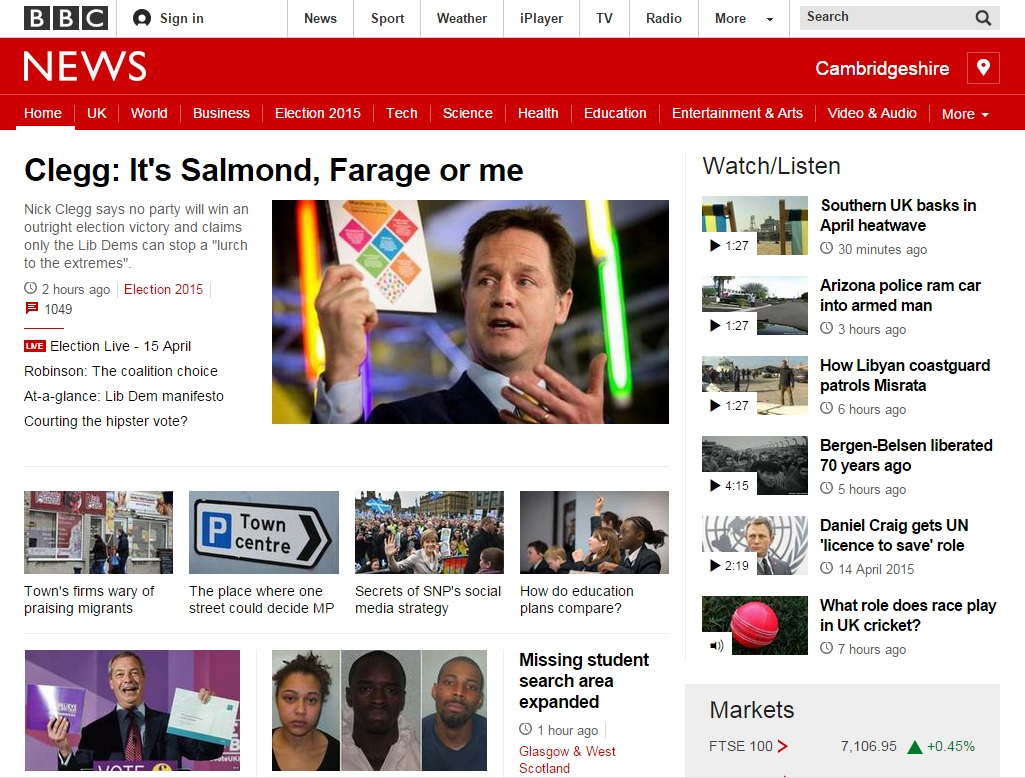 BBC new responsive website