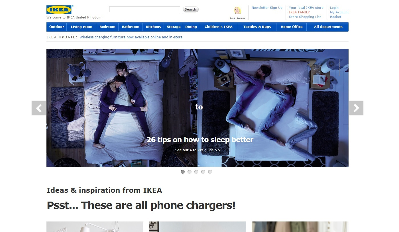 IKEA UK Web design