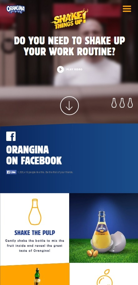Orangina Mobile Responsive Design