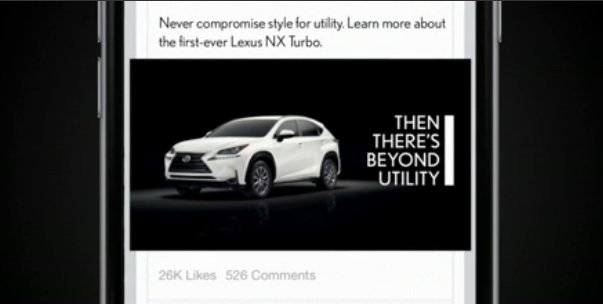 Facebook 1000 to 1 Lexus NX Campaign
