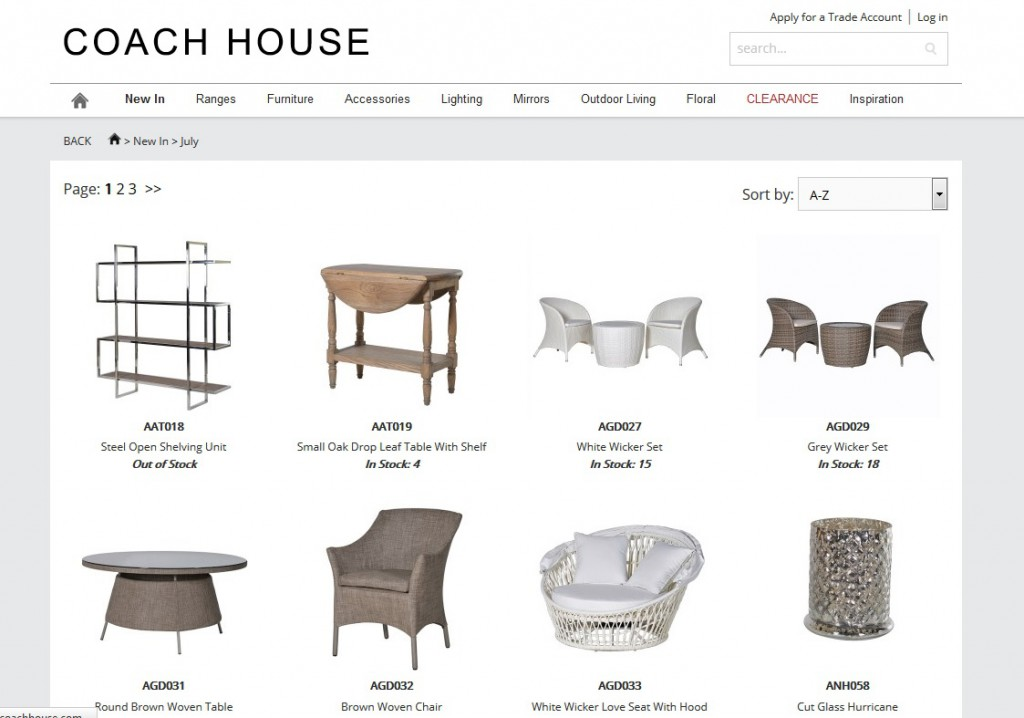 Ecommerce images Coach House