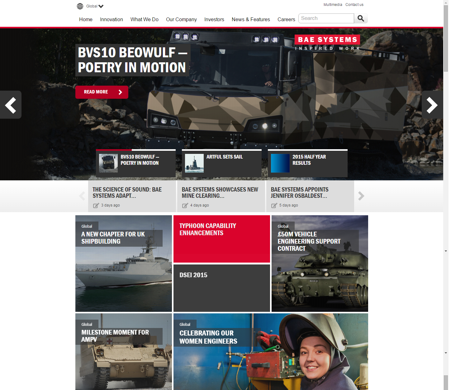 BAE Systems Engineering Web Design