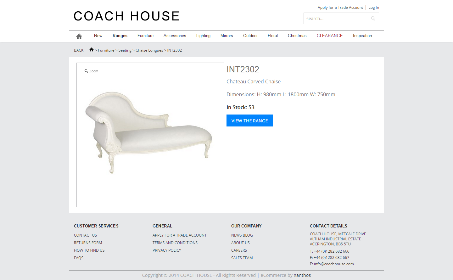 Coach House Ecommerce Product