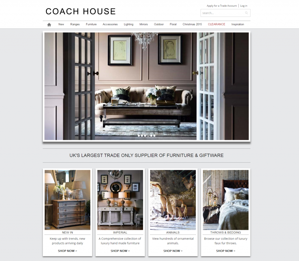 Coach House Ecommerce Web Design