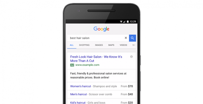 Google PPC price extensions
